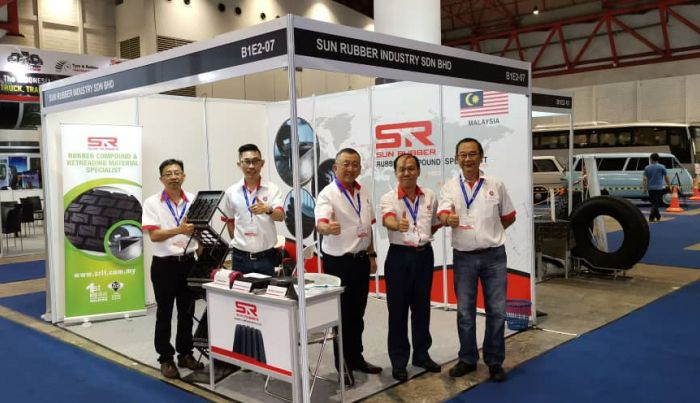 Sun Rubber Joined Tyre & Rubber Indonesia 2019