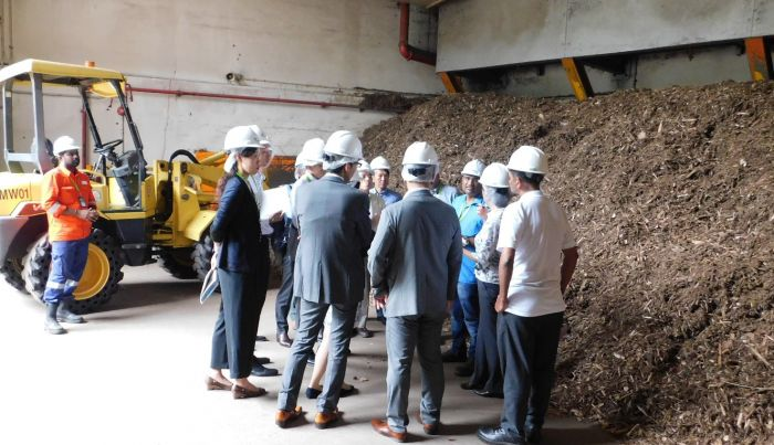 ACEJ Japan Visited ecoWise Biomass Power Plant